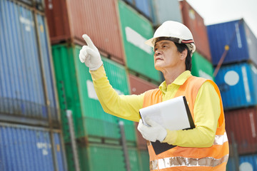 chinese dock warehouse worker