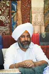 adult indian sikh seller man