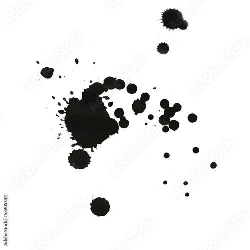 ink watercolor paint splatter splash grunge background black blo