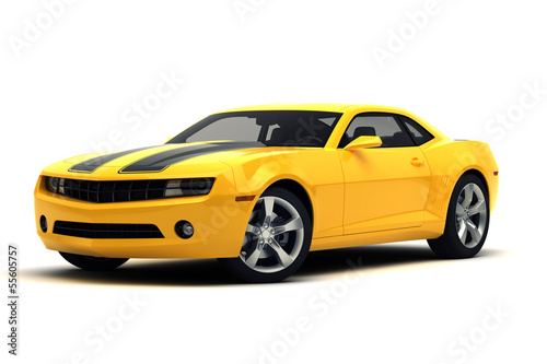 canvas print picture Sports car