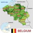 Belgium Europe national emblem map symbol location