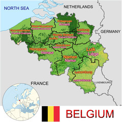 Belgium Europe national emblem map symbol location