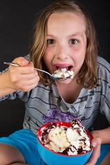 ice cream sundae for a kid