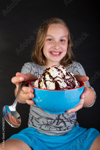 young child with ice cream