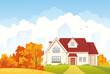 Autumn cottage - 55606741