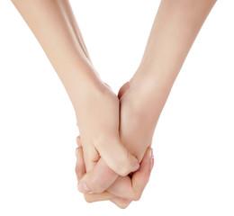 Hands congratulating
