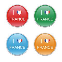Iconos para simbolizar Me gusta Francia
