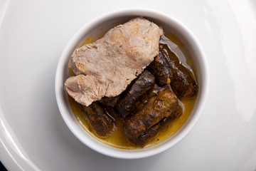 stuffed grape leaves with meat