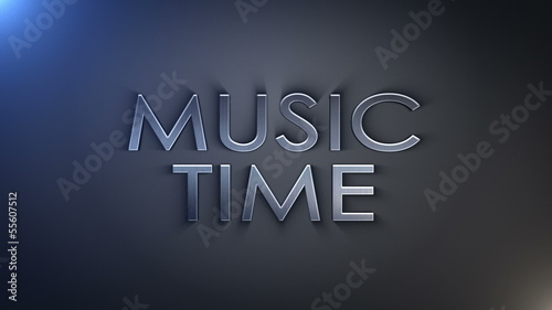 Music Time Silver Text, Loop
