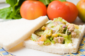 salad sandwich with vegetables