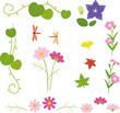 秋の草花のフレーム