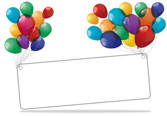Colorful Balloons Banner
