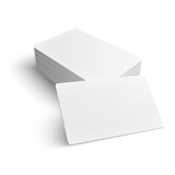Stack of blank business card.