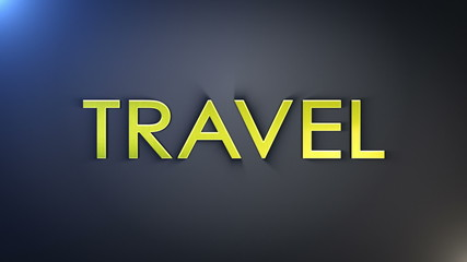 Travel Gold Text, with Final Explosion, Loop