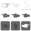 hands icon set