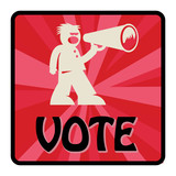 Vote sign, vector illustration