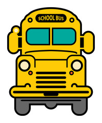 Yellow School Bus, vector illustration