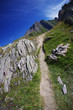 sentier de randonnée en montagne