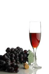 Single glass of wine