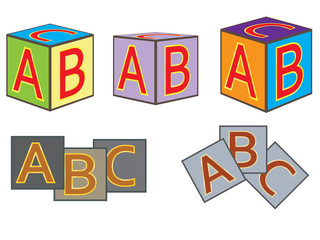 abc bricks vector illustration