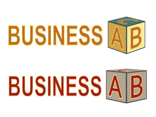 business ABC vector illustration