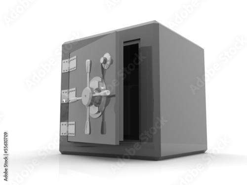 Security metal safe with empty space