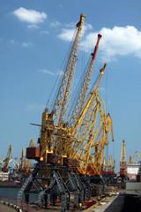 cargo seaport cranes, Odessa