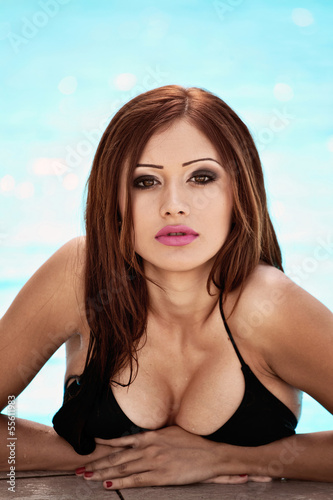 Sexy portrait of red-haired girl