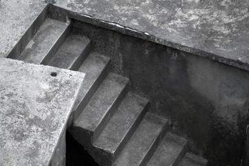Dark concrete stairs