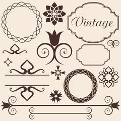 Vintage. Design elements