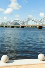 Riga railway bridge, Latvia.