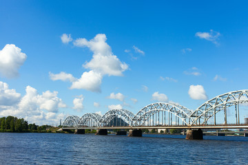 Riga railway bridge, Latvia.