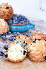 Broken Blueberry Muffins