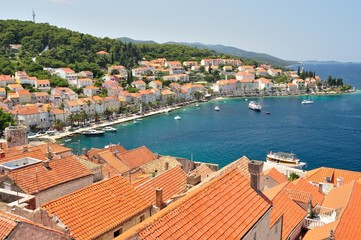 Town Korcula in Croatia in which Marco Polo was born