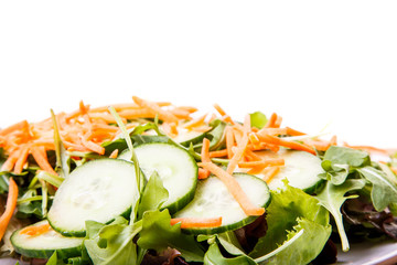 Carrots and Cucumbers on Salad