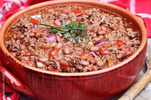 Chili Con Carne in Pot