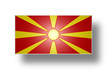 Flag of Macedonia (stylized I).