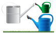 watering cans, eps10 vector