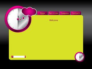 Clocked website template