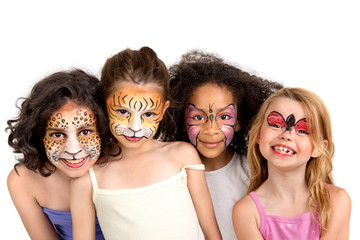 Face painting group