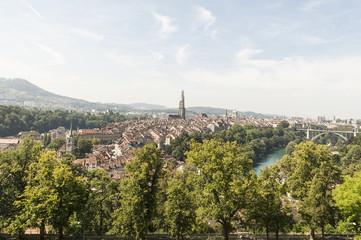 Bern, Aussichtspunkt Rosenberg, historische Altstadt, Schweiz