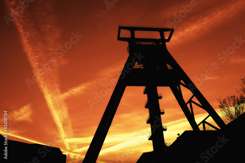 canvas print picture Old Coal Mine Tower 4