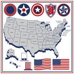 アメリカ州 地図