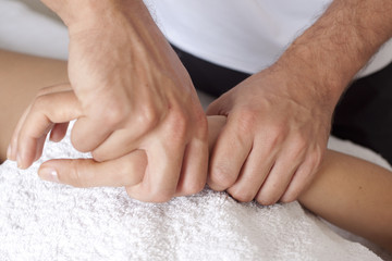 Behandlung der Hand