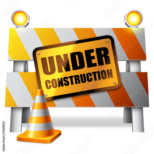 Under construction barrier.