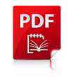 Embossed PDF file icon