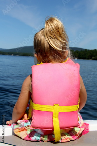 Little Girl On Boat