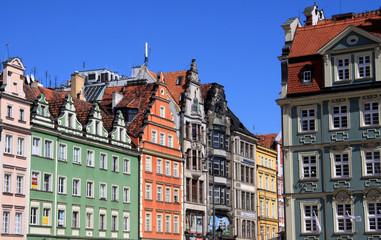 Historische Fassaden in Wroclaw