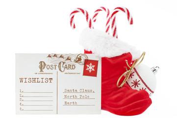 Wunschliste an den Weihnachtsmann