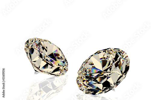 2つのダイヤモンドのCG